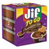 Smucker's Jif To Go, Creamy Chocolate Silk, 1.5 oz Cup, 8/Box