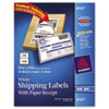 Avery Shipping Labels with Paper Receipt, 5 1/16 x 7 5/8, White, 25/Pack