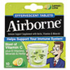 Airborne Immune Support Effervescent Tablet, Lemon/Lime, 10 Count