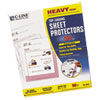 Heavyweight Polypropylene Sheet Protector, Clear, 11 x 8 1/2, 50/BX