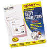 Hvywt Poly Sht Protector, Antimicrobial, Clear, Top-Loading, 11 x 8 1/2, 100/BX