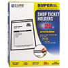 Shop Ticket Holders, Stitched, Both Sides Clear, 8 1/2 x 11, 25/BX