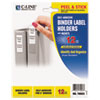 C-Line Self-Adhesive Ring Binder Label Holders, Top Load, 1-3/4 x 2-3/4, Clear, 12/Pack