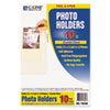 Peel & Stick Photo Holders for 3x5 & 4 x 6 Photos, 4-3/8 x 6-1/2, Clear, 10/Pack