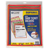 Stitched Shop Ticket Holder, Neon, Assorted 5 Colors, 9 x 12, 10/PK