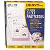 Heavyweight Polypropylene Sheet Protector, Non-Glare, 11 x 8 1/2, 50/BX