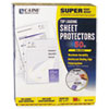 Super Heavyweight Polypropylene Sheet Protector, Non-Glare, 11 x 8 1/2, 50/BX