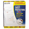 Standard Weight Polypropylene Sheet Protector, Non-Glare, 11 x 8 1/2, 50/BX