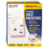 Heavyweight Polypropylene Sheet Protector, Clear, 11 x 8 1/2, 200/BX