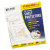 Standard Weight Polypropylene Sheet Protector, Clear, 11 x 8 1/2, 50/BX