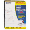 Standard Weight Polypropylene Sheet Protector, Non-Glare, 11 x 8 1/2, 100/BX