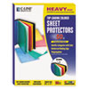 Colored Polypropylene Sheet Protector, Assorted Colors, 11 x 8 1/2, 50/BX