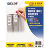 C-Line Self-Adhesive Ring Binder Label Holders, Top Load, 2 1/4 x 3, Clear, 12/Pack