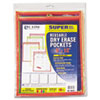 C-Line Reusable Dry Erase Pockets, 9 x 12, Assorted Neon Colors, 10/Pack