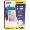 Vinyl Report Covers with Binding Bars, White Binding Bars, 11 x 8 1/2, 50/BX