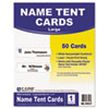 C-Line Printer-Ready Name Tent Cards, 4-1/4 x 11, White Cardstock, 50 Letter Sheets/Box
