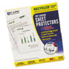Recycled Polypropylene Sheet Protector, Reduced Glare, 11 x 8 1/2, 100/BX