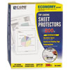 Economy Weight Poly Sheet Protector, Reduced Glare, 11 x 8 1/2, 200/BX