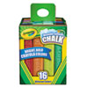 Crayola Washable Sidewalk Chalk, 16 Assorted Colors, 16 Sticks/Set