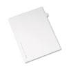 Allstate-Style Legal Side Tab Divider, Title: V, Letter, White, 25/Pack