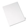 Allstate-Style Legal Side Tab Divider, Title: Y, Letter, White, 25/Pack