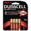Duracell Quantum Alkaline Batteries with Duralock Power Preserve Technology, AAA, 4/Pk