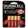 Duracell Quantum Alkaline Batteries with Duralock Power Preserve Technology, AA, 4/Pk