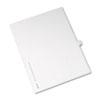Allstate-Style Legal Side Tab Divider, Title: 11, Letter, White, 25/Pack