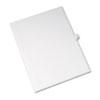 Allstate-Style Legal Side Tab Divider, Title: 13, Letter, White, 25/Pack
