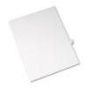 Allstate-Style Legal Side Tab Divider, Title: 17, Letter, White, 25/Pack