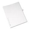 Allstate-Style Legal Side Tab Divider, Title: 40, Letter, White, 25/Pack