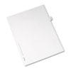 Allstate-Style Legal Side Tab Divider, Title: 43, Letter, White, 25/Pack