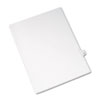 Allstate-Style Legal Side Tab Divider, Title: 44, Letter, White, 25/Pack