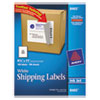 Avery Shipping Labels w/Ultrahold Ad & TrueBlock, Inkjet, 8 1/2 x 11, White, 100/Box