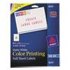 Inkjet Labels for Color Printing, 8-1/2 x 11, Matte White, 20/Pack