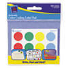 "Removable Label Pads, 3/4"" Dia., Assorted, 480/Pack"