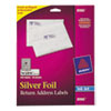 Avery Foil Mailing Labels, 3/4 x 2-1/4, Silver, 300/Pack