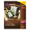 Avery Textured Arched Print-to-the-Edge Labels, 4 3/4 x 3 1/2, White, 40/Pack