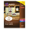 Oval Easy Peel Labels, 2 x 3-1/3, Matte Ivory, 80/Pack