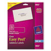 Avery Clear Easy Peel Mailing Labels, Inkjet, 1 1/3 x 4, 350/Pack