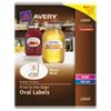 Avery Oval Print-to-the-Edge Labels, 2 x 3 1/3, White, 80/Pack