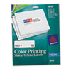 Avery Inkjet Labels for Color Printing, 1-1/3 x 4, Matte White, 280/Pack