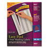Easy Peel Inkjet Mailing Labels, 1/2 x 1-3/4, Clear, 2000/Pack