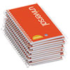 Universal Wirebound Memo Book, Narrow Rule, 5 x 3, White, 12 50-Sheet Pads/Pack
