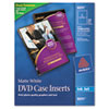 Inkjet DVD Case Inserts, Matte White, 20/Pack