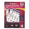"Avery Custom Binder Spine Inserts, 1-1/2"" Spine Width, 5 Inserts/Sheet, 5 Sheets/Pack"