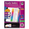 Avery Ready Index Contemporary Table of Contents Divider, 1-10, Multi, Letter
