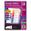 Avery Ready Index Customizable Table of Contents Multicolor Dividers, 8-Tab, Letter