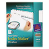 Avery Index Maker Clear Label Dividers, 5-Tab, Letter, White