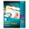 Avery Index Maker Divider w/Multicolor Tabs, 5-Tab, Letter, 5 Sets/Pack